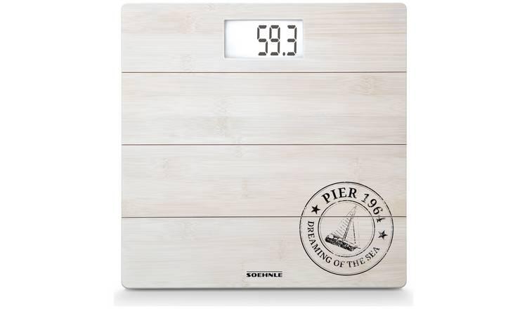 Digital Bathroom Scales | Buy Leifheit Digital Bathroom Scales White Bamboo Bathroom Scales Argos