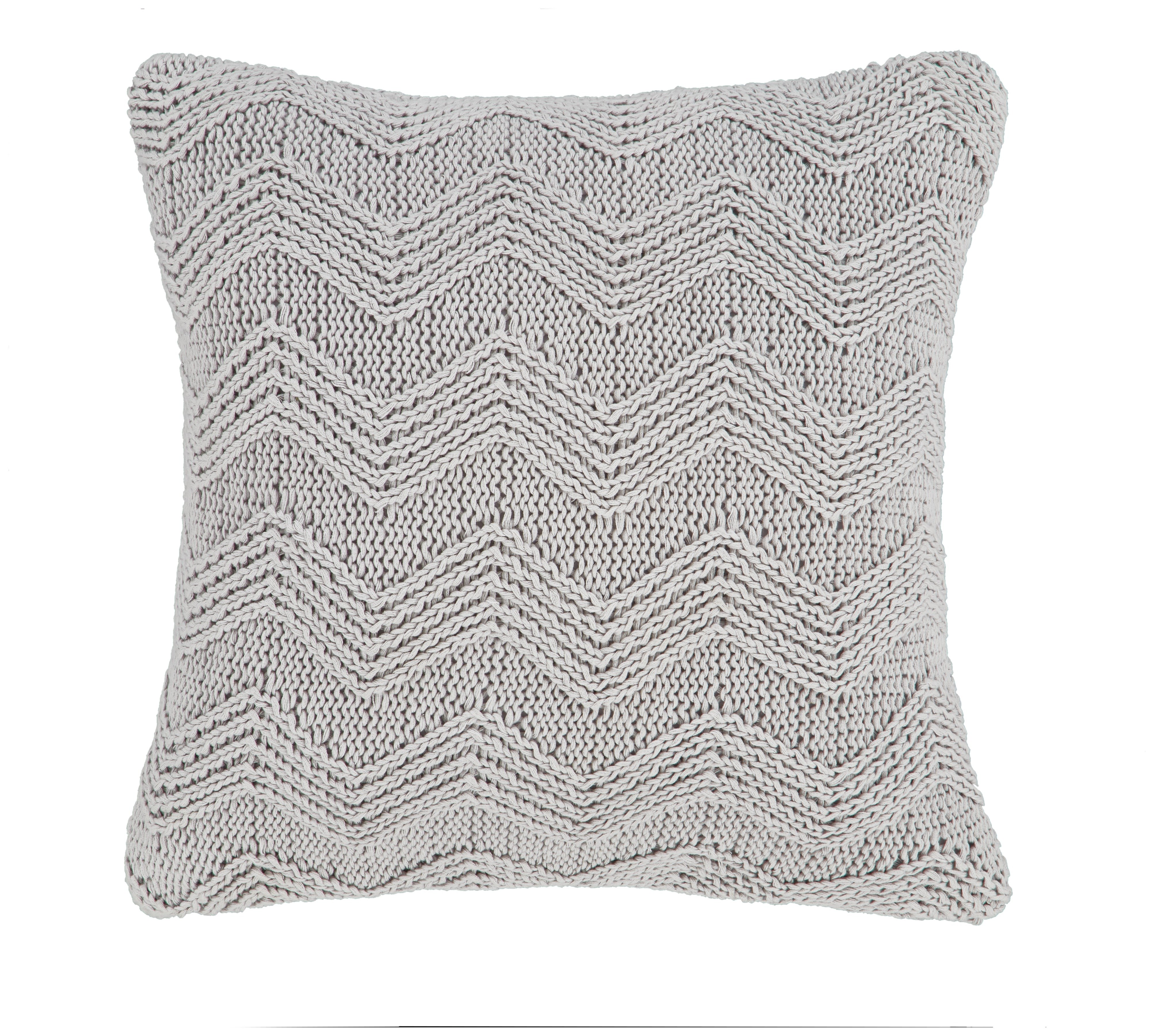 Bianca Cotton Soft Knit Filled Cushion Grey : 6691121RZ001A from furniturecompare.uk size 4010 x 3599 jpeg 2273kB