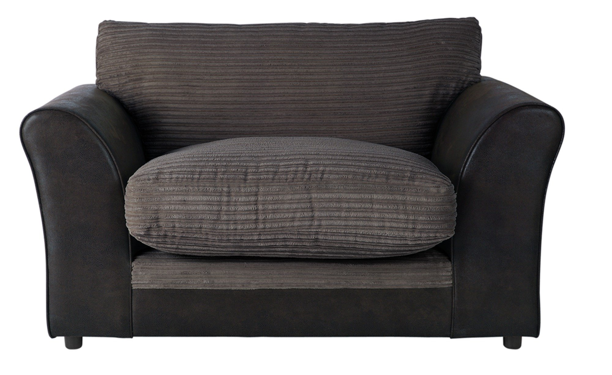 Argos Home Harley Fabric Cuddle Chair - Charcoal