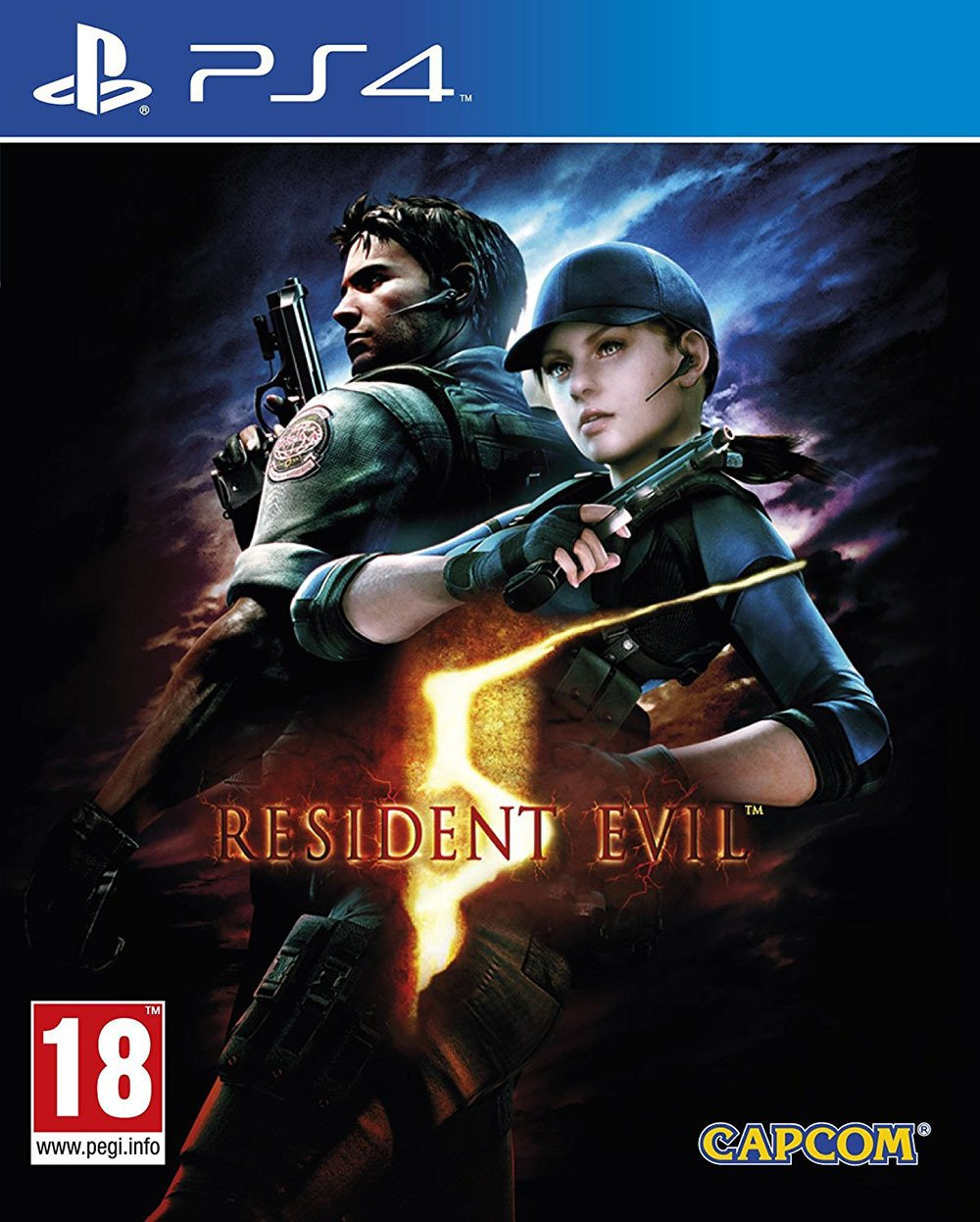 Image of Resident Evil 5 PS4 Game.