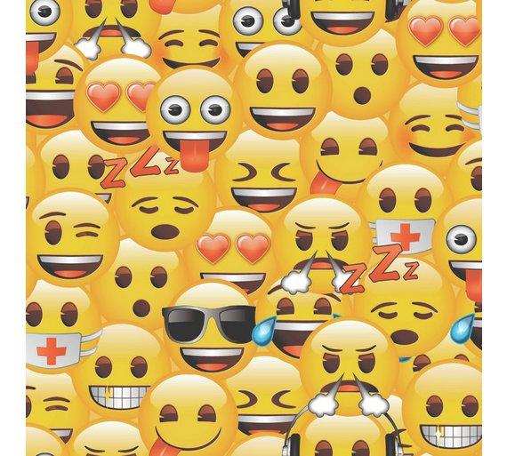 Buy emoji yellow smiley wallpaper at argos your online emoji yellow smiley wallpaper altavistaventures Image collections