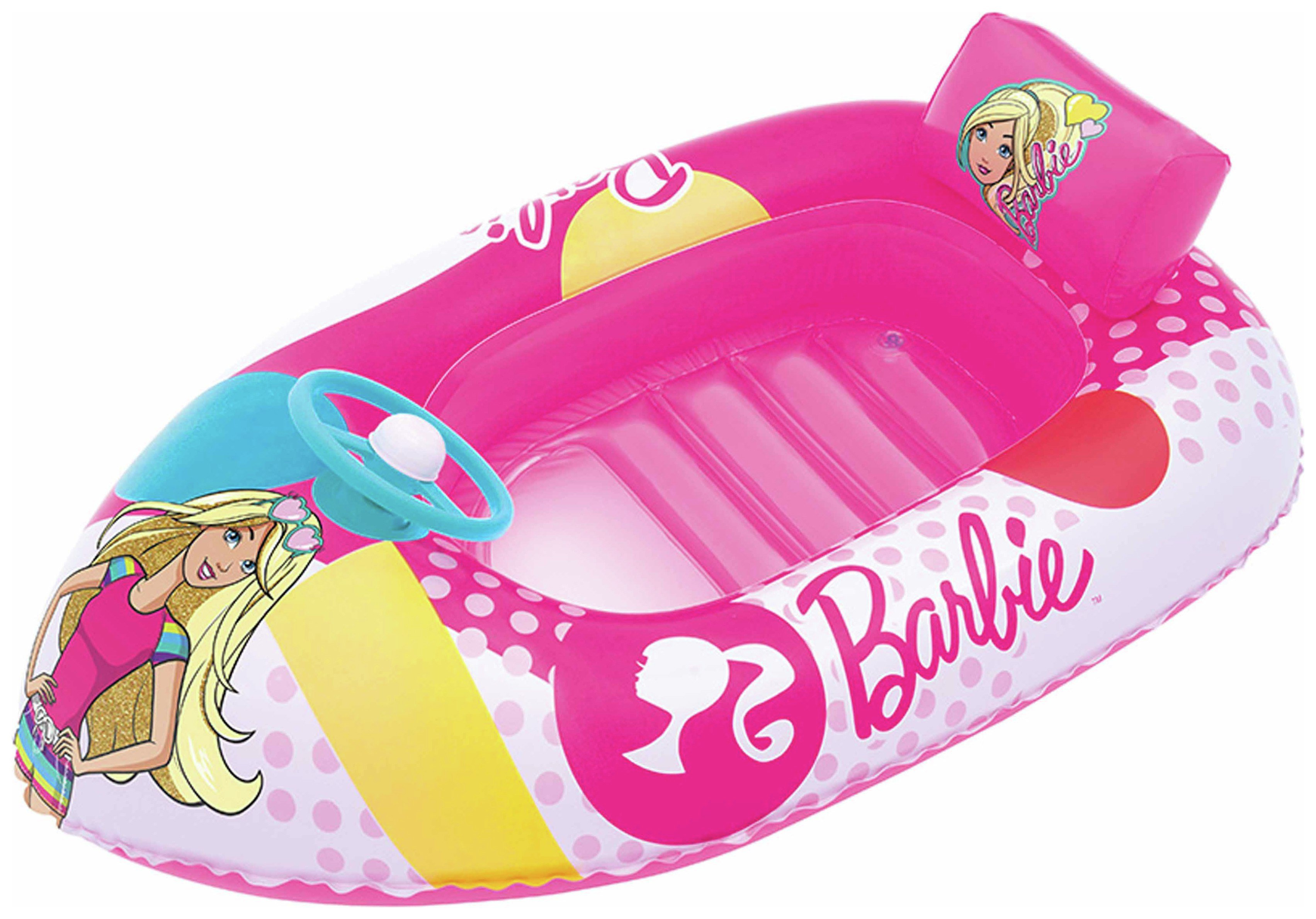 bestway barbie fashion boat inflatable.