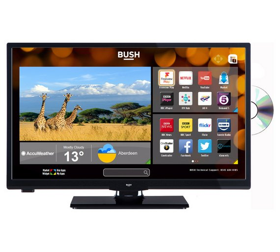 Buy Bush 24 Inch HD Ready Smart TV With DVD Player - Black ...