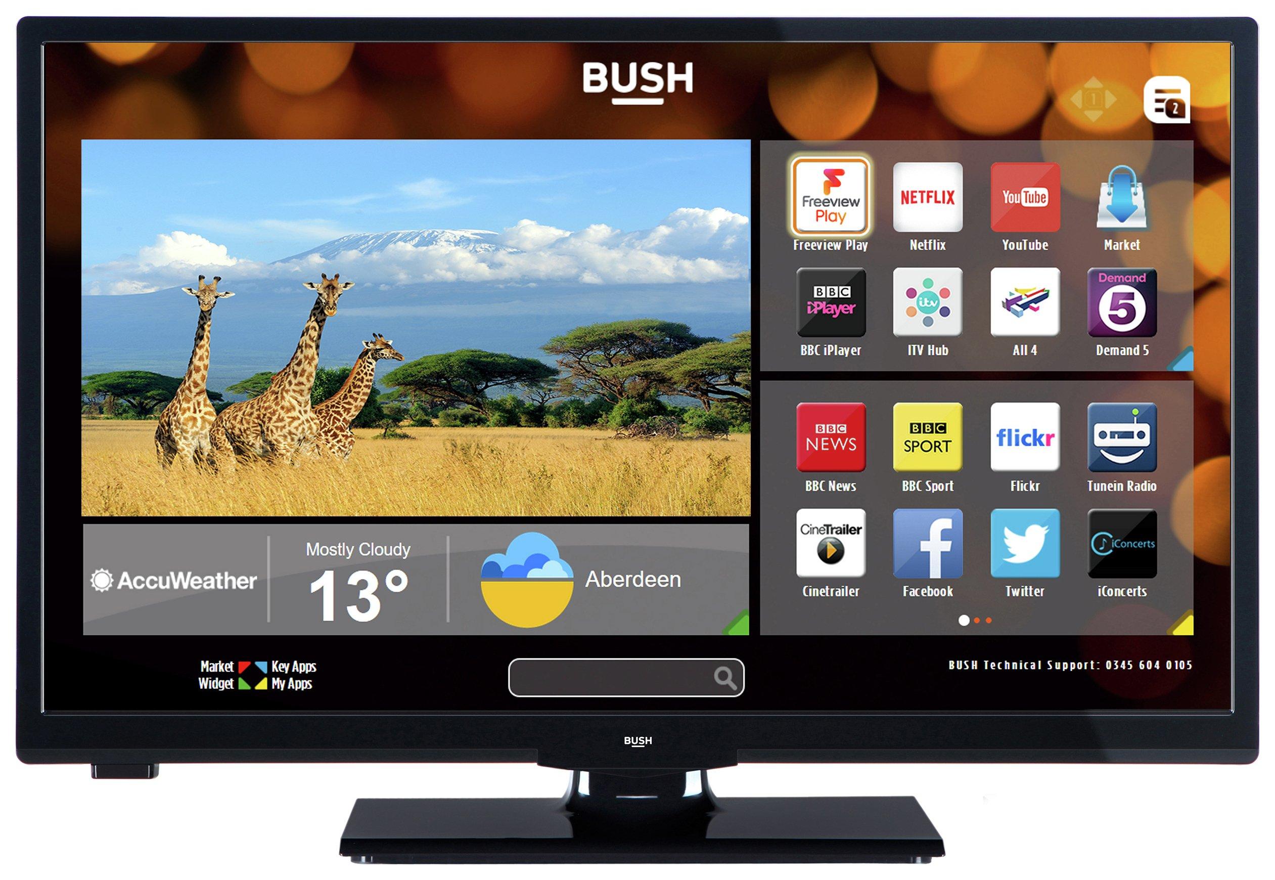 tv 24 inch. bush 24 inch hd ready smart tv with dvd player - black tv i