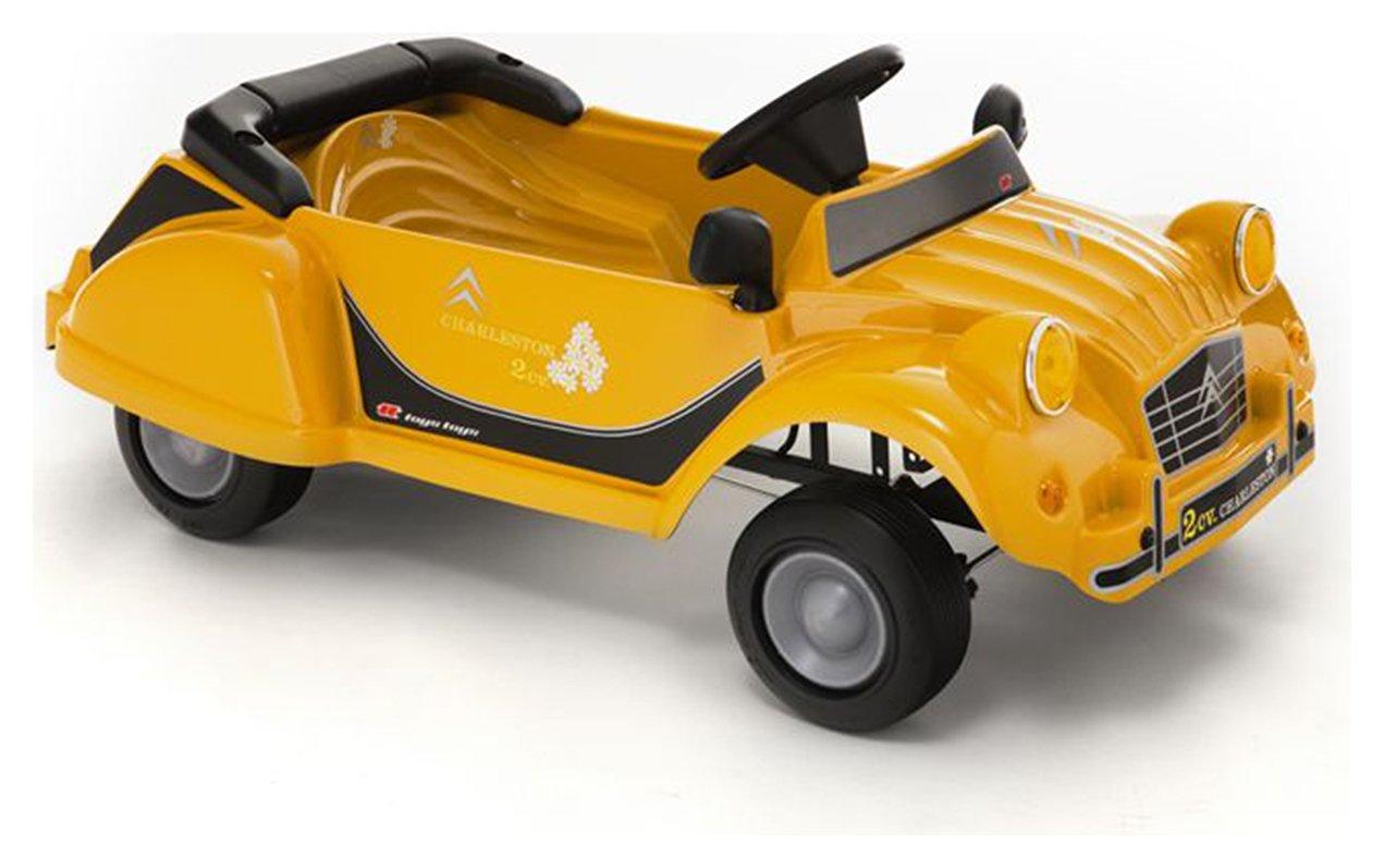 Image of Citroen Toys Charleston 2CV Yellow Pedal Car.
