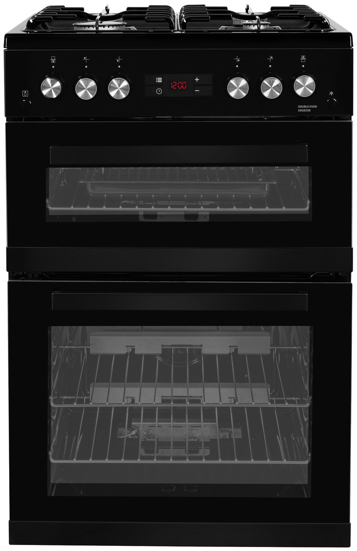 Beko KDG653K 60cm Double Oven Gas Cooker - Black