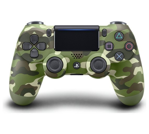 Sony PS4 DualShock 4 V2 Wireless Controller - Green Camo.