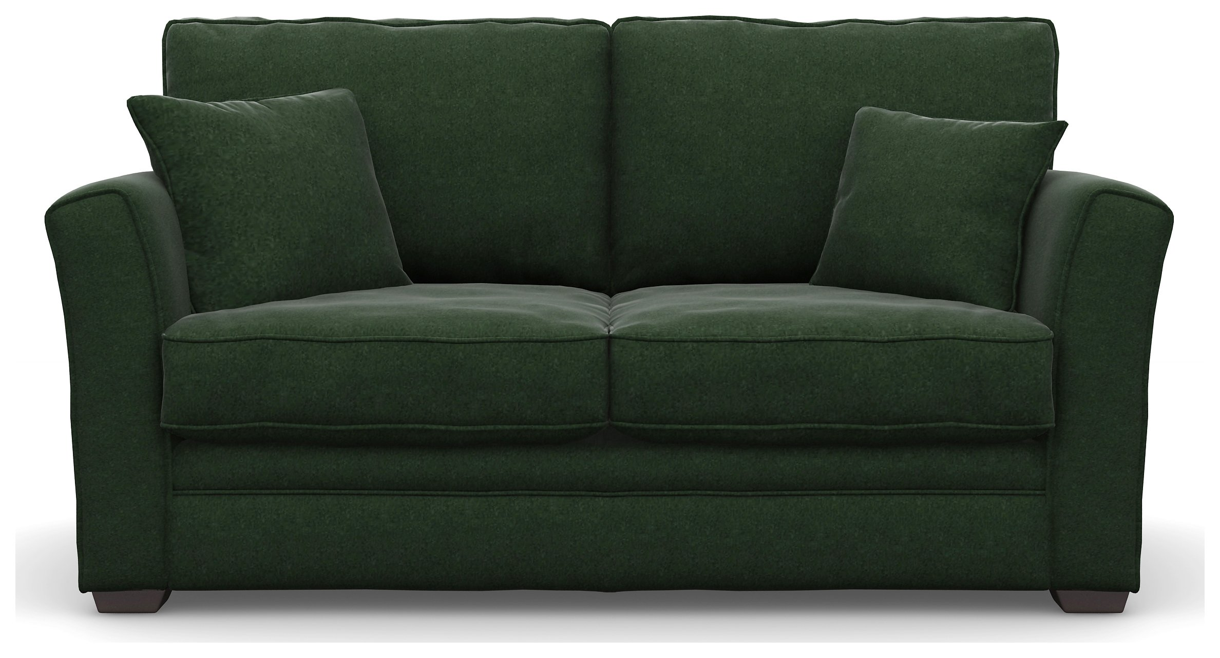 Image of Heart of House Malton 2 Seater Fabric Sofa Bed - Forest + Black Legs