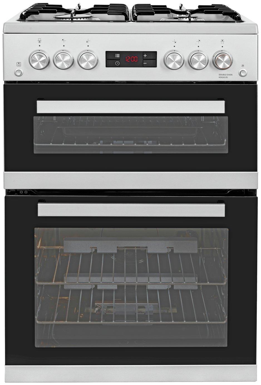 Beko KDG653S 60cm Double Oven Gas Cooker - Silver