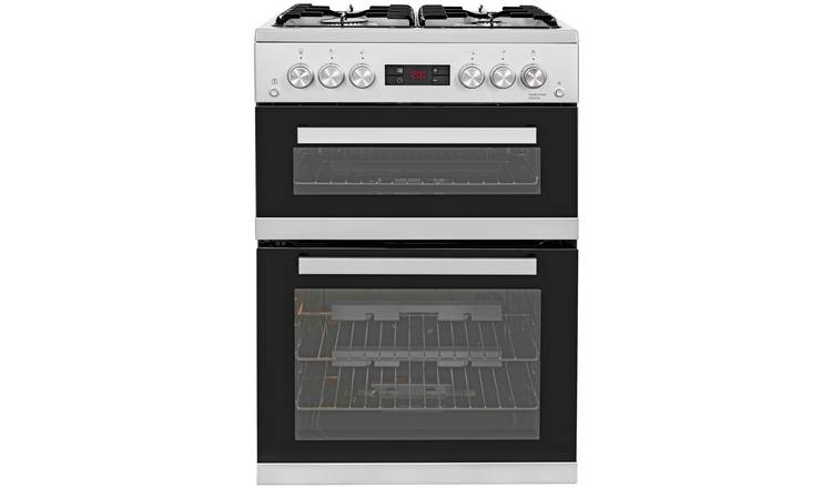 Beko KDG653S 60cm Double Oven Gas Cooker - Silver