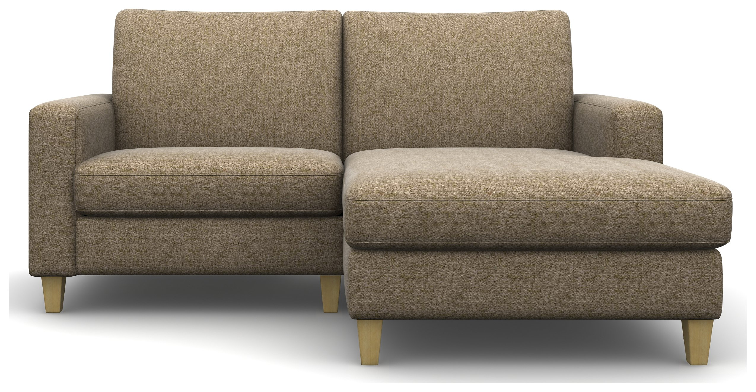 Create Your Own Heart of House Harrison Tweed Fabric Chaise Sofa - Beige.