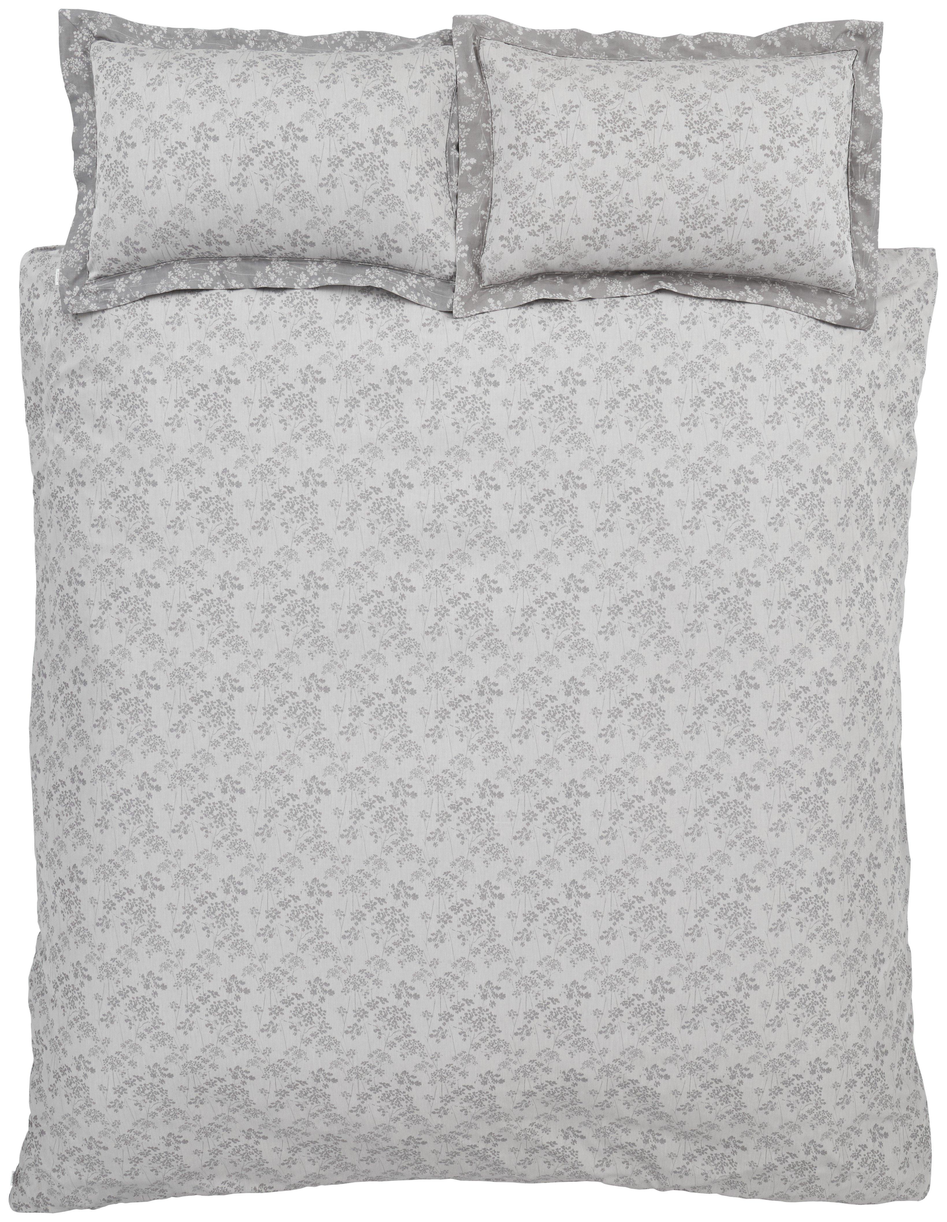Image of Bianca Cotton Soft Sprig Jacquard Bedding Set - Kingsize.