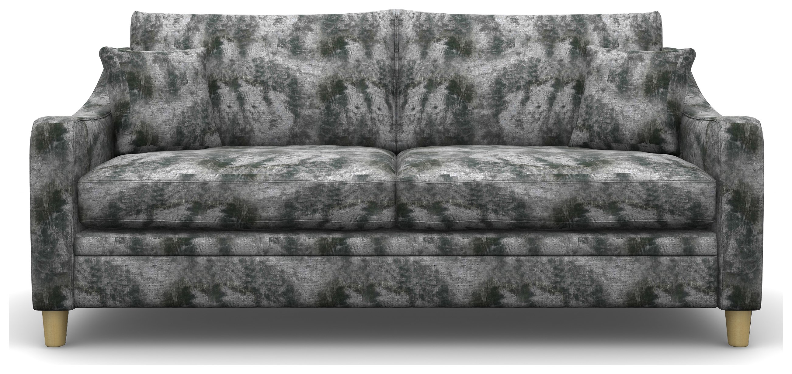 Heart of House Newbury 3 Seater Shimmer Fabric Sofa -Silver.