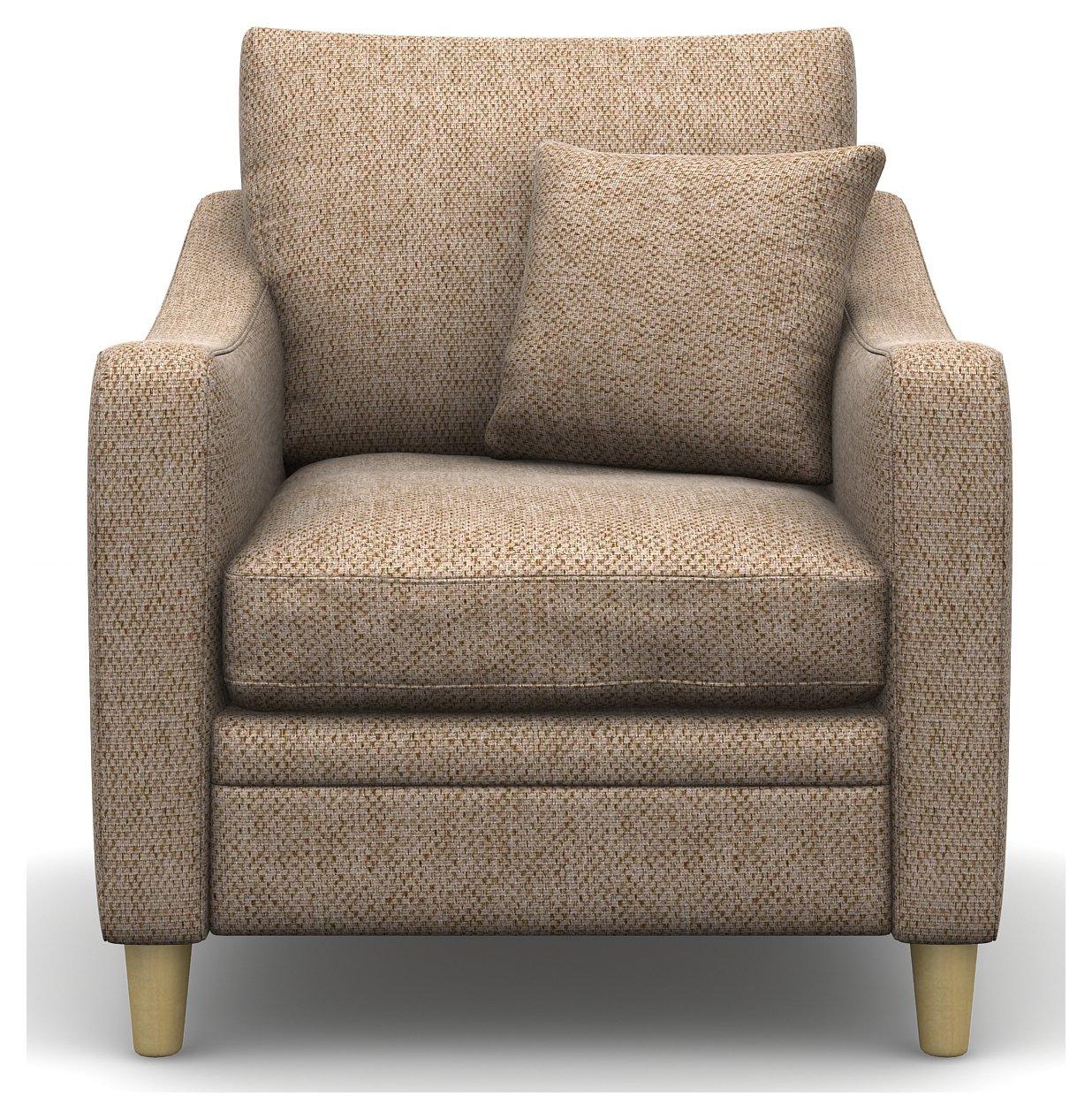 Heart of House Newbury Fabric Chair - Beige.
