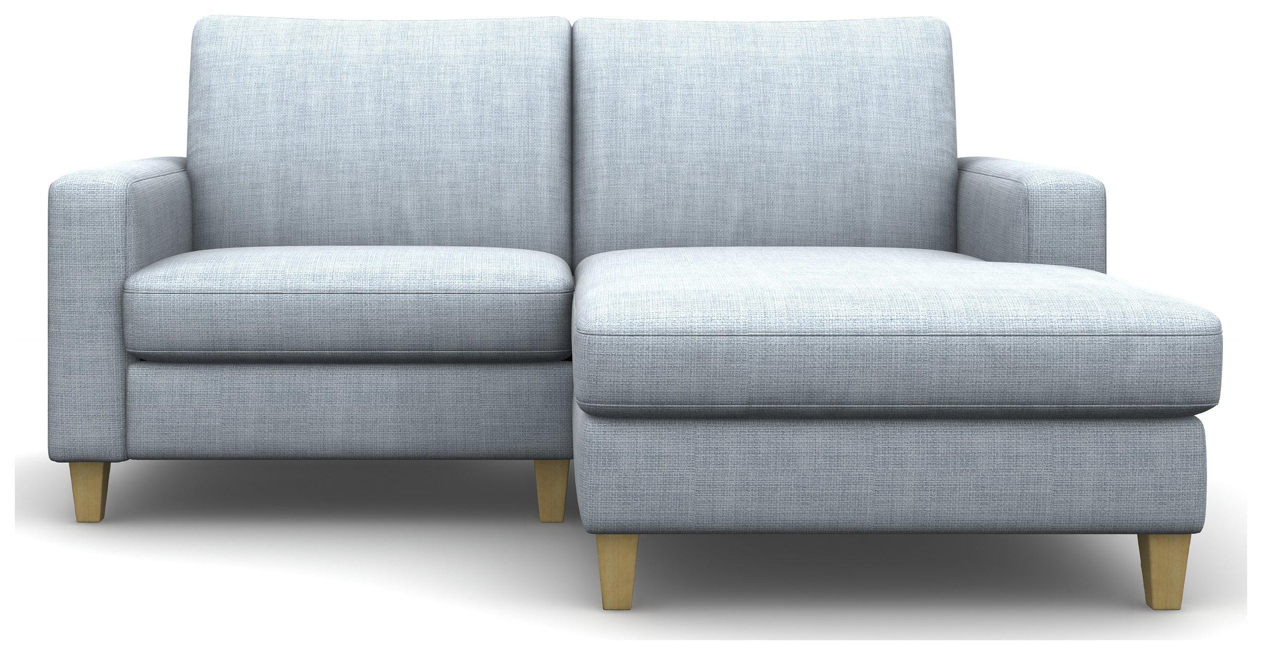 Heart of House Harrison Fabric Chaise Sofa - Sky.