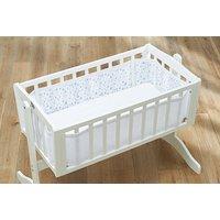 BreathableBaby - Mesh Crib Liner - Twinkle Blue