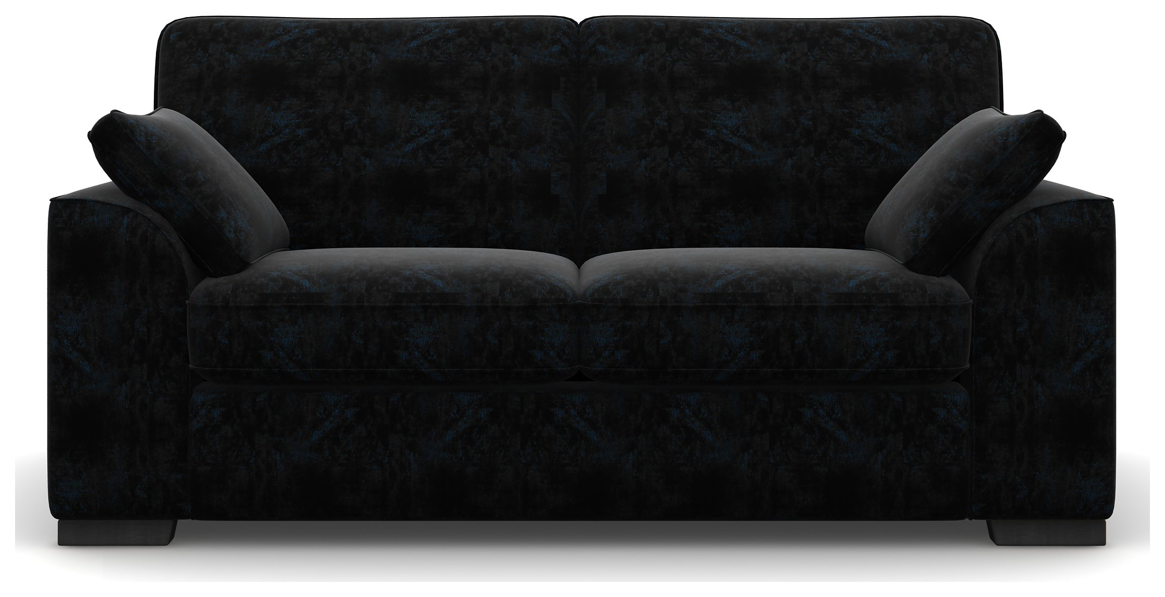 Heart of House Lincoln 2 Seater Shimmer Fabric Sofa - Black.