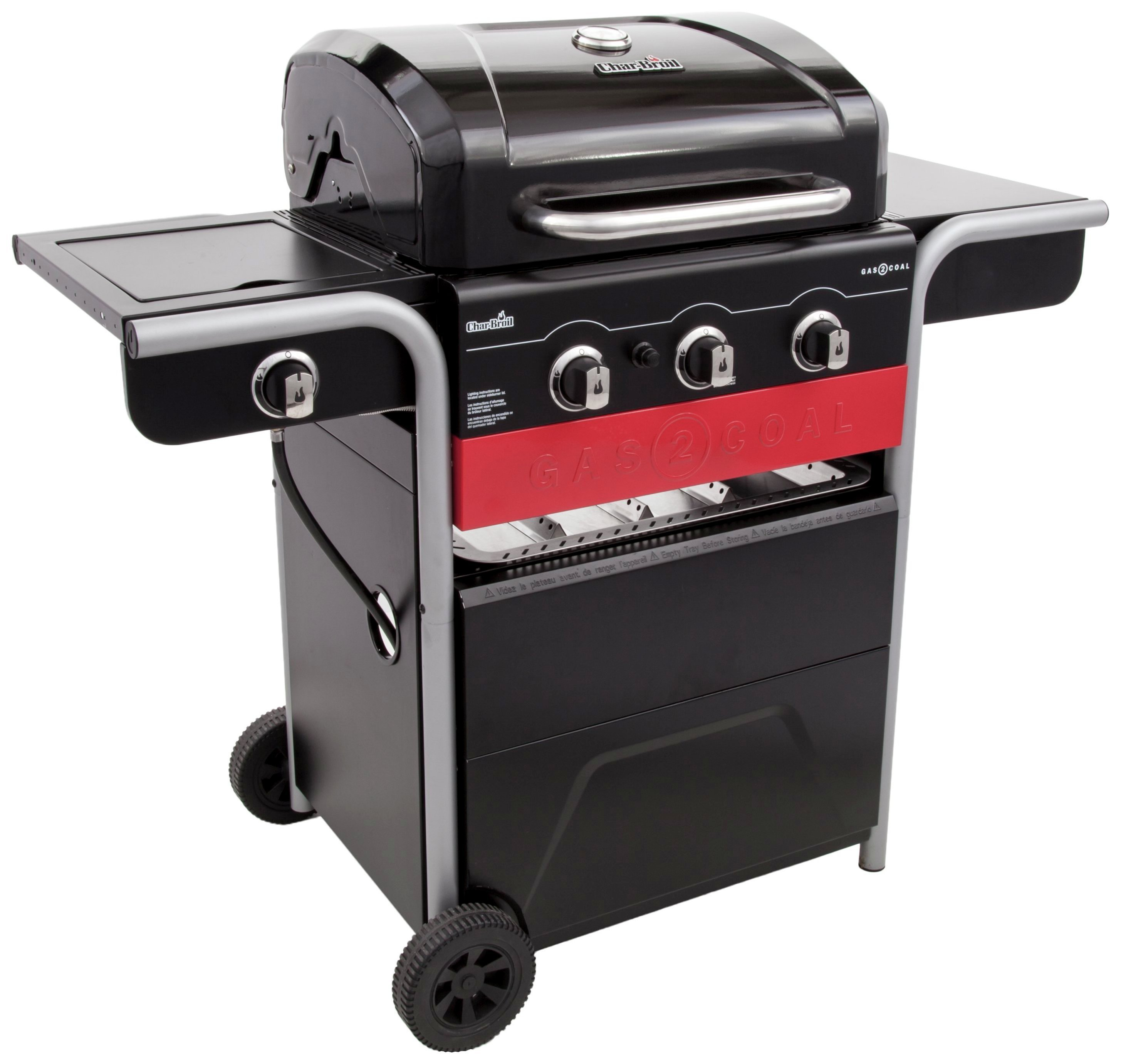 Image of Char-Broil Gas2Coal Hybrid - 3 Burner Gas & Coal BBQ Grill