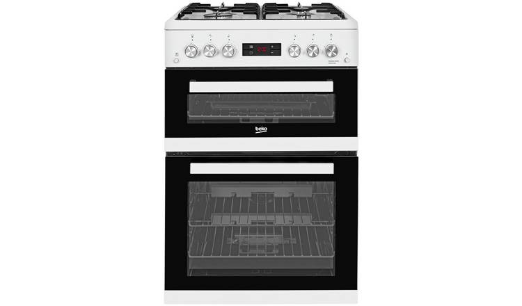 Beko KDG653W 60cm Double Oven Gas Cooker - White