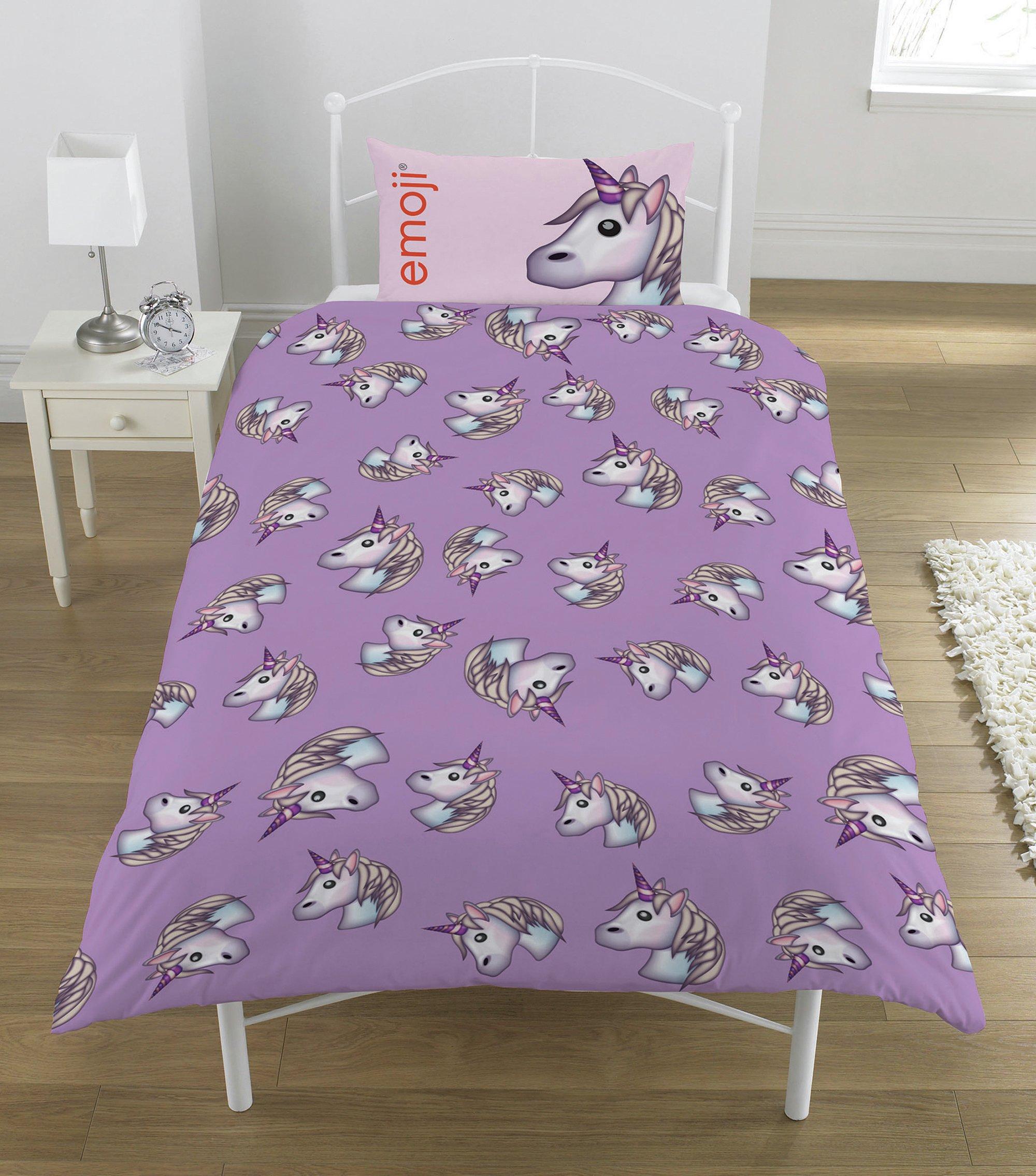 buy emoji unicorn bedding set - single at argos.co.uk - your