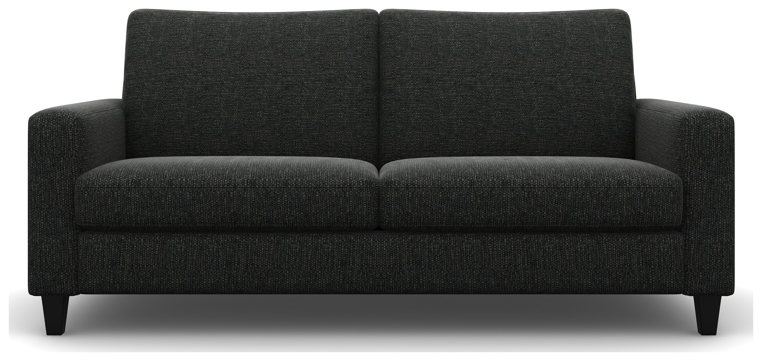Heart of House Harrison 4 Seater Fabric Sofa - Dark Grey + Black Legs.