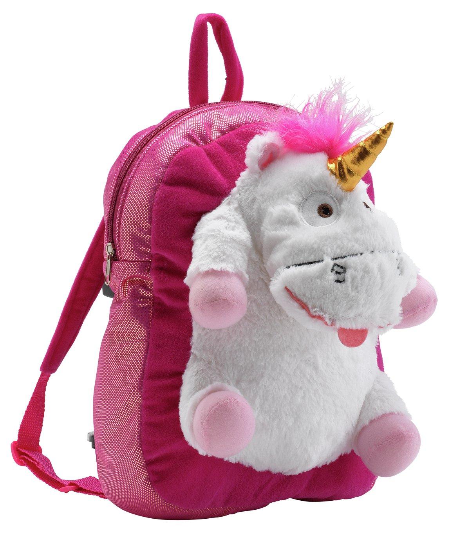 Minions Fluffy Unicorn Plush Backpack