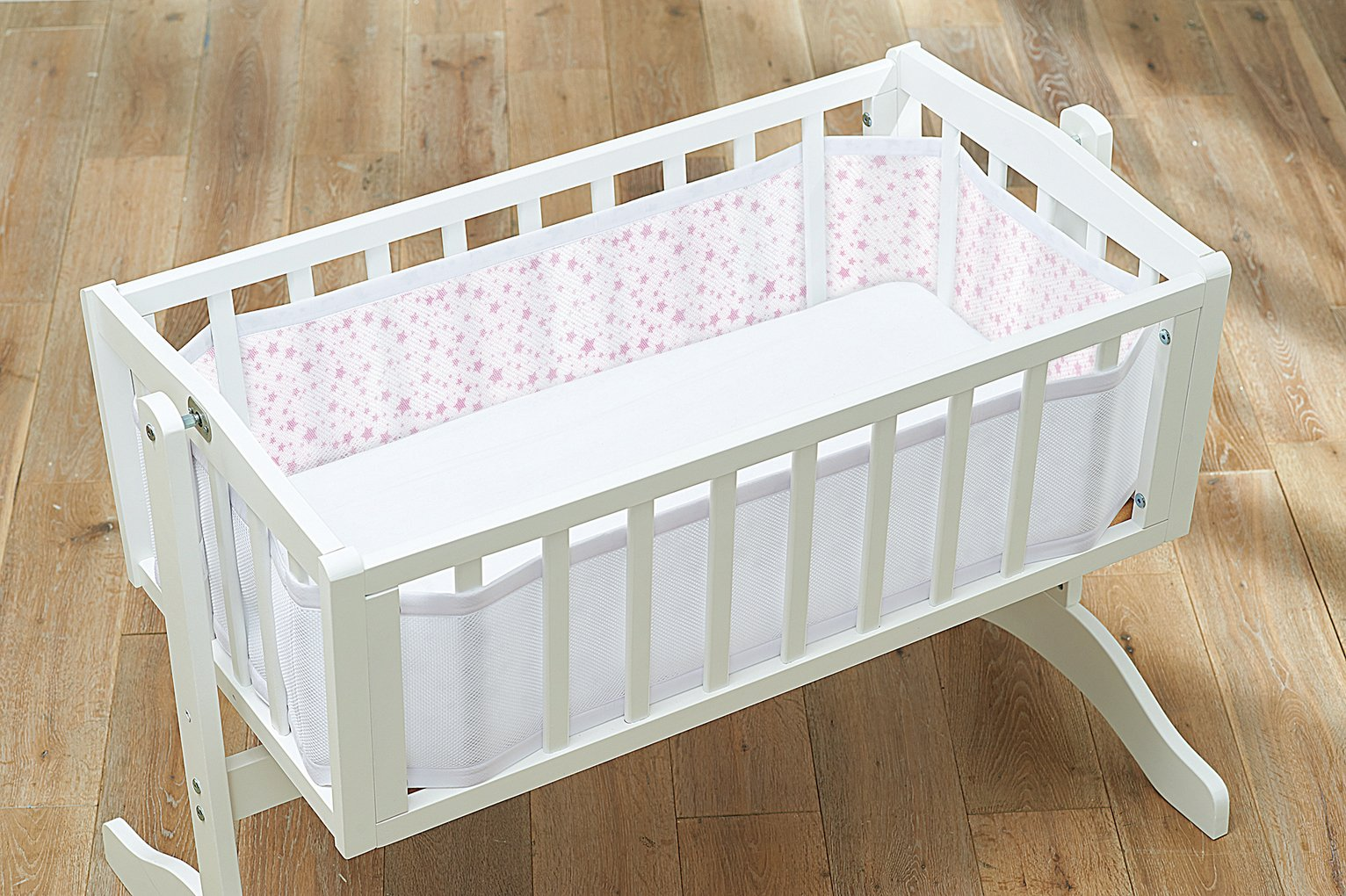 Compare retail prices of BreathableBaby Two Sided Mesh Cot Liner Twinkle Pink to get the best deal online
