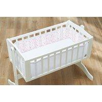 BreathableBaby - Mesh Crib Liner - Twinkle Pink
