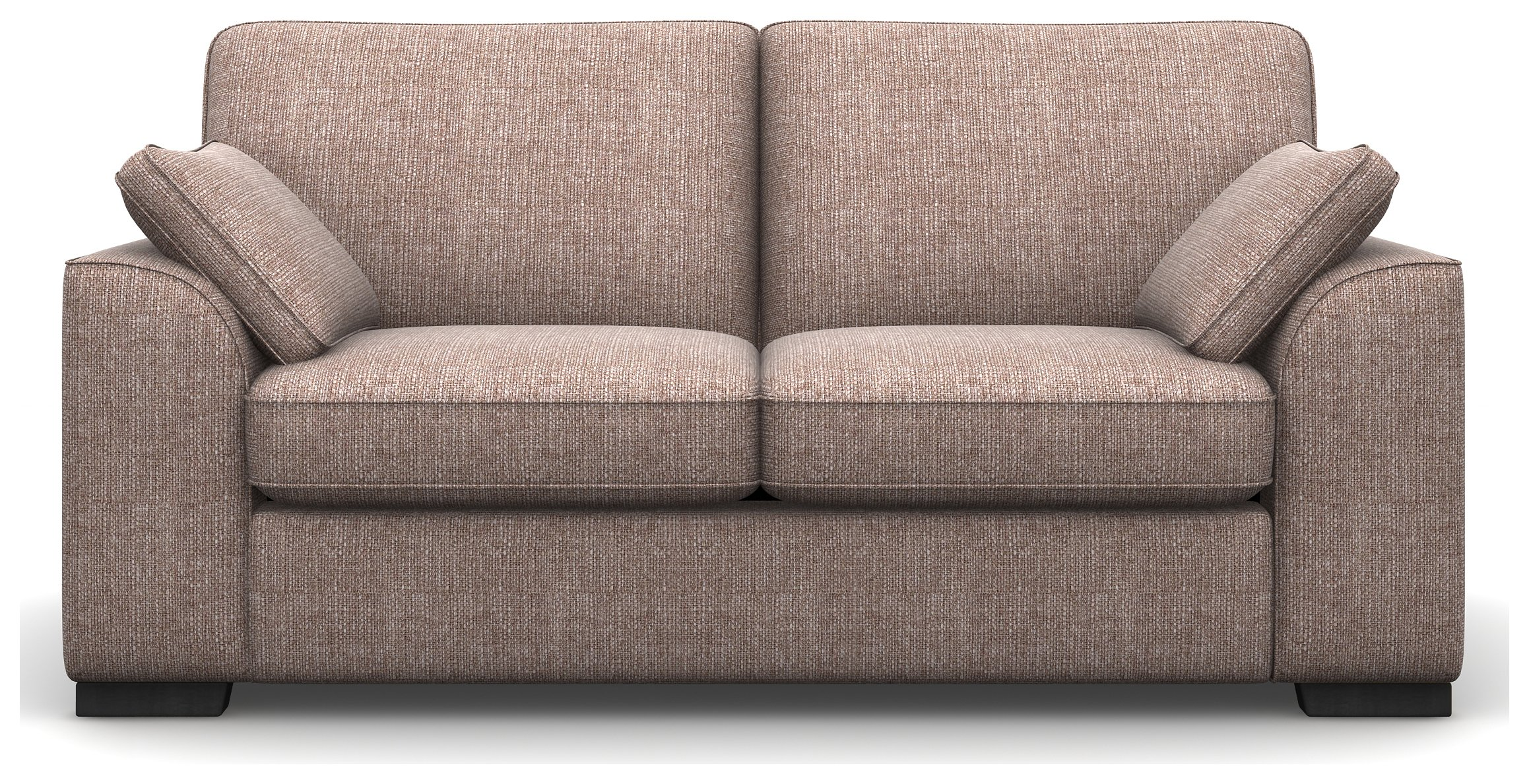 Heart of House Lincoln 2 Seater Fabric Sofa - Natural + Black Legs