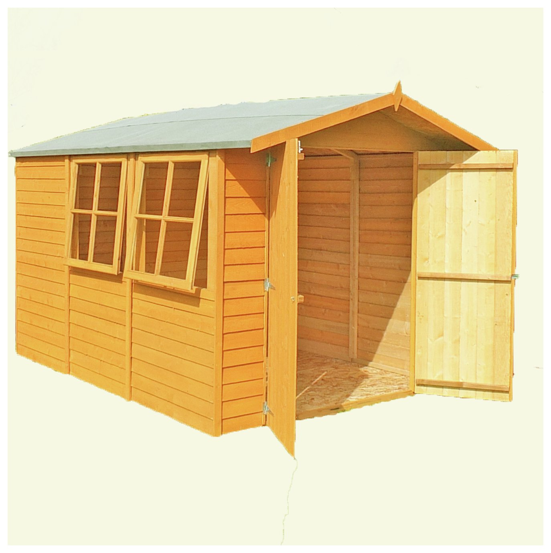 Homewood Wooden 10 x 7ft Overlap Double Door Shed