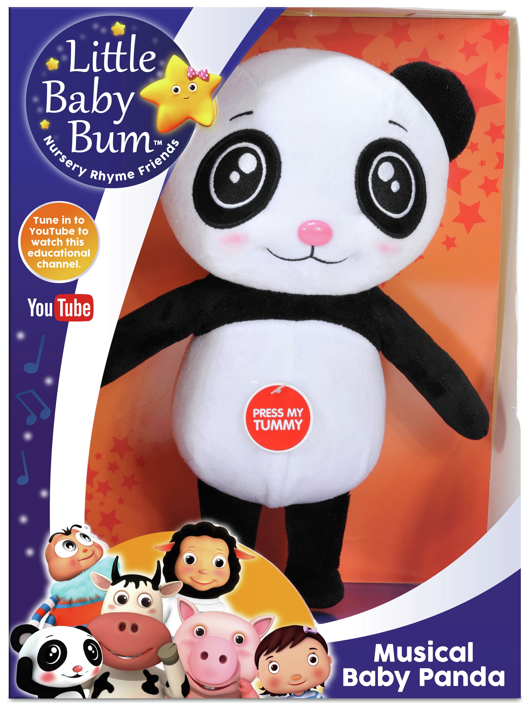 Image of Little Baby Bum Musical Cuddlers Baby Panda Plush.