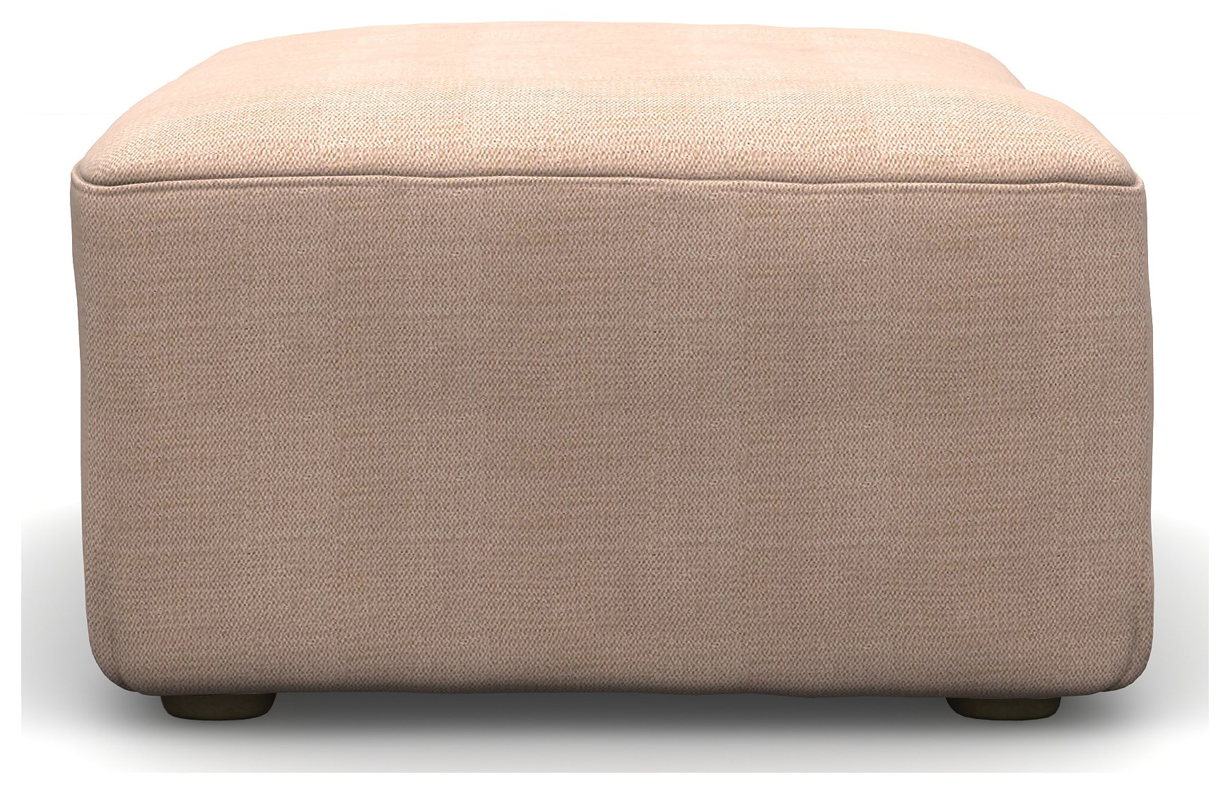 Heart of House Lucas Fabric Footstool - Rose Pink
