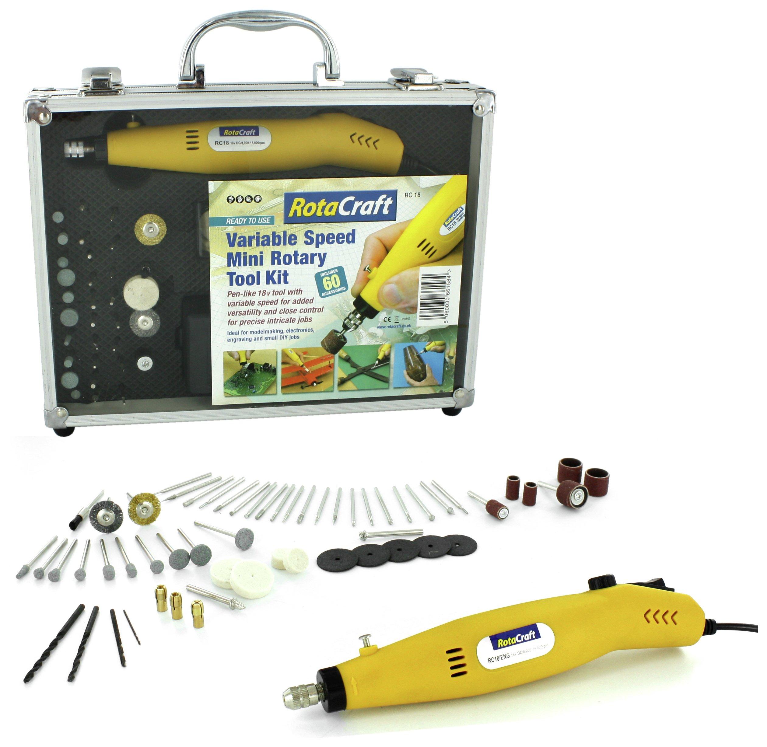 Rotacraft Variable Speed Rotary Tool Kit