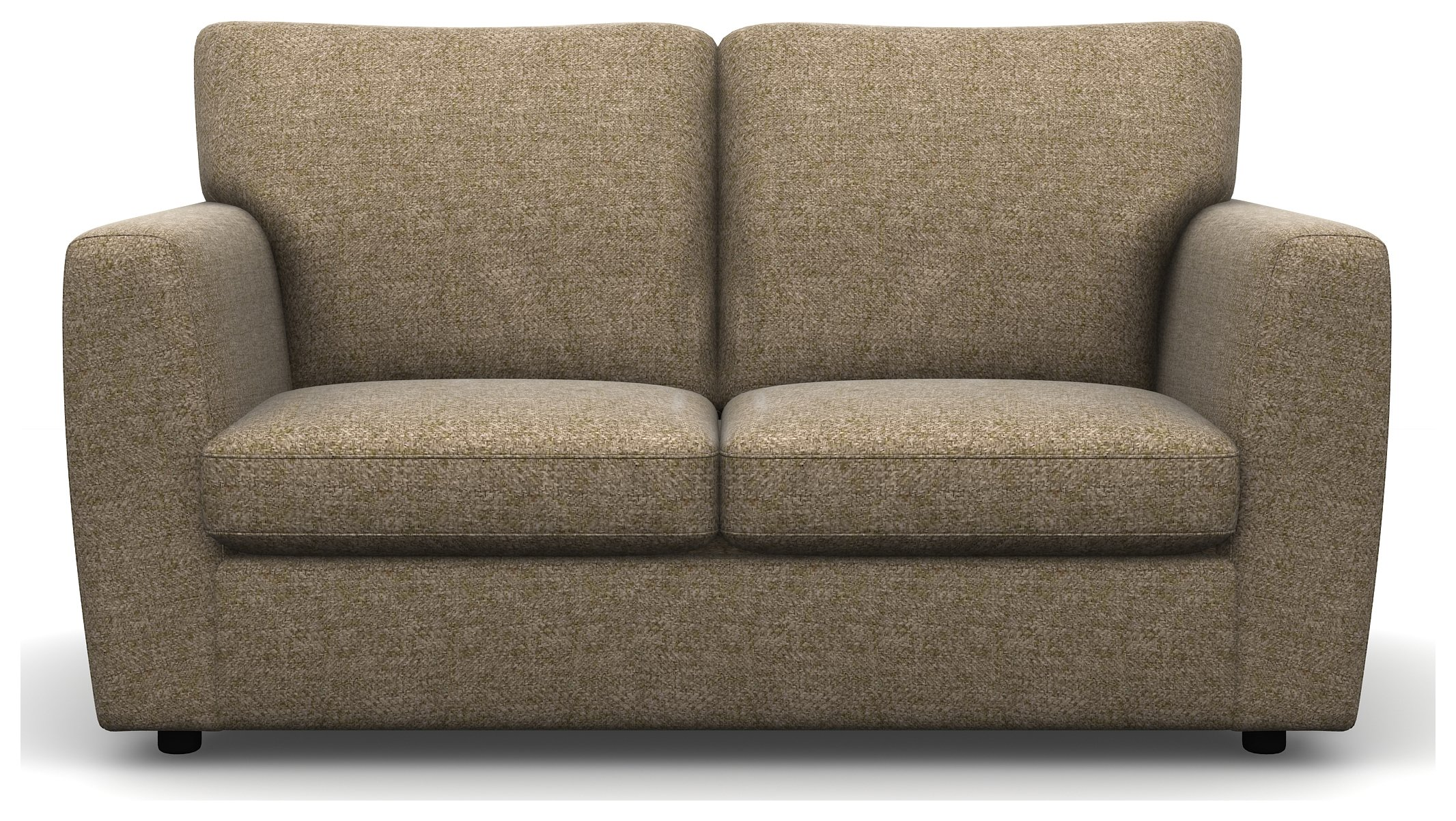 Heart of House Lucas 2 Seater Tweed Fabric Sofa - Beige.