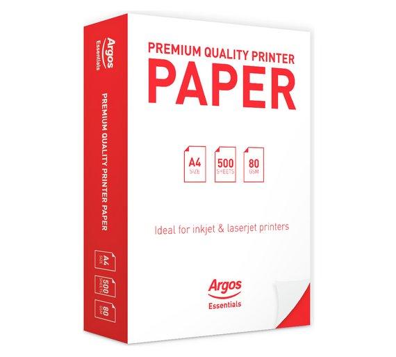 Buy Argos Essential A4 Premium Printing Paper 500 Sheets Printer