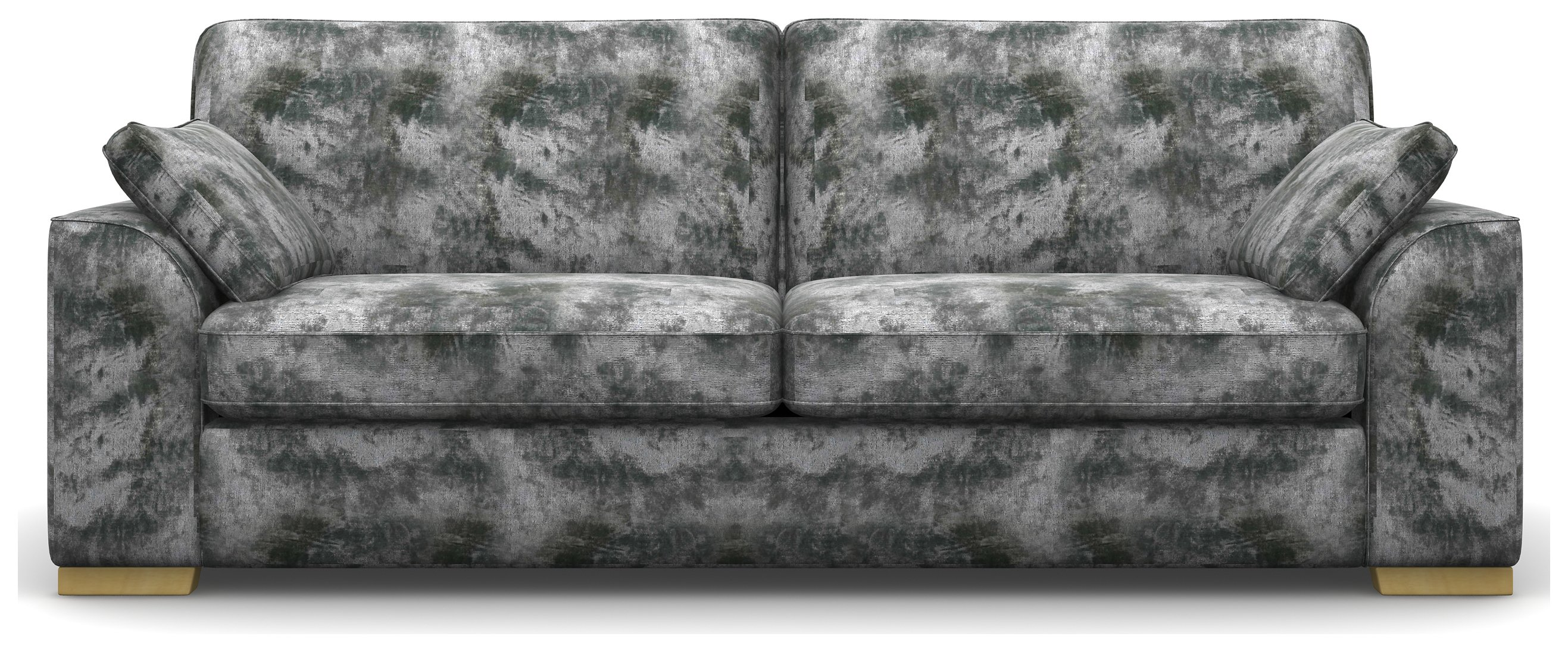 Heart of House Lincoln 4 Seat Shimmer Fabric Sofa - Silver
