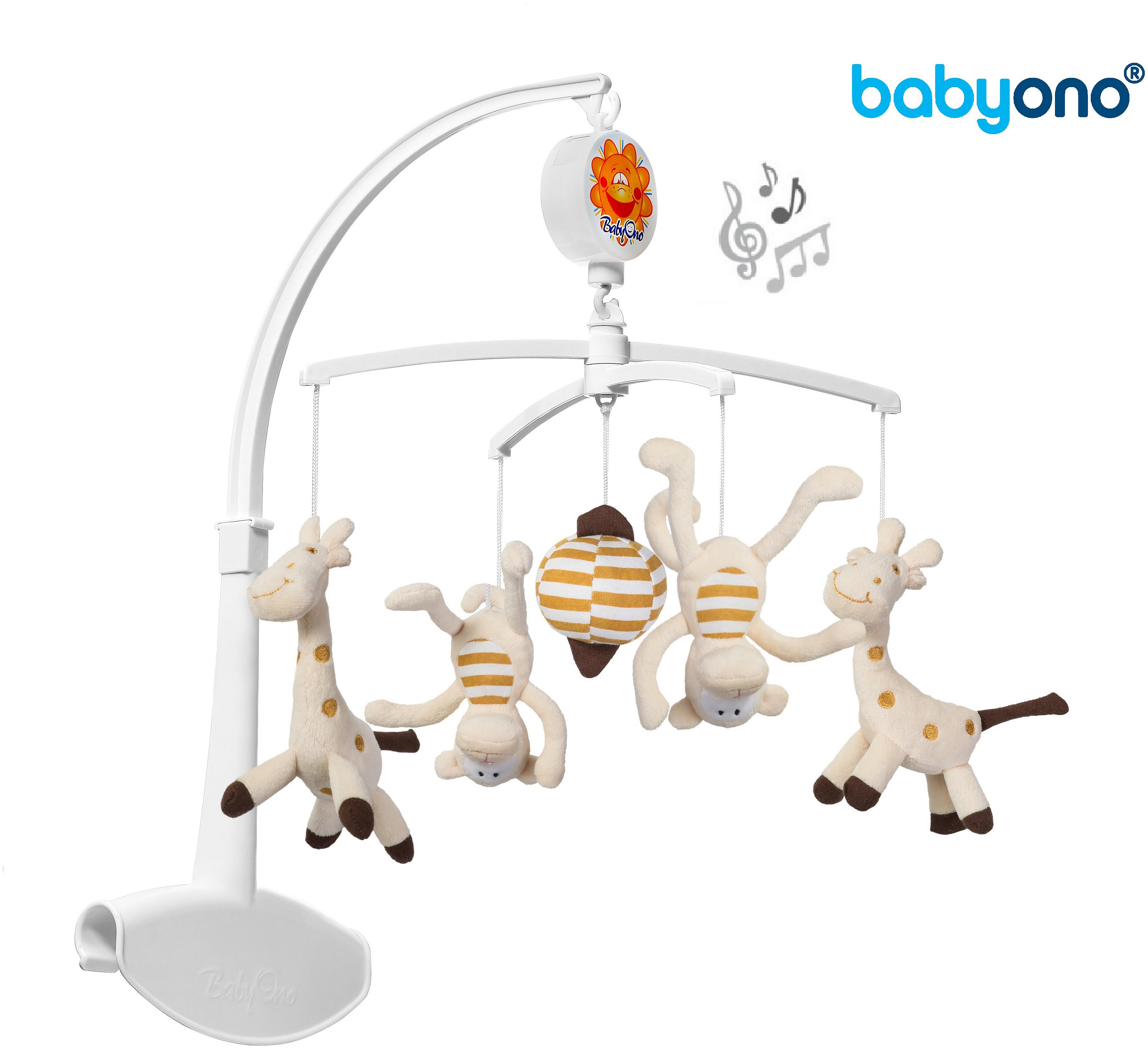 Baby Ono Universal Baby Cot Bed Mobile - Giraffe & Monkeys