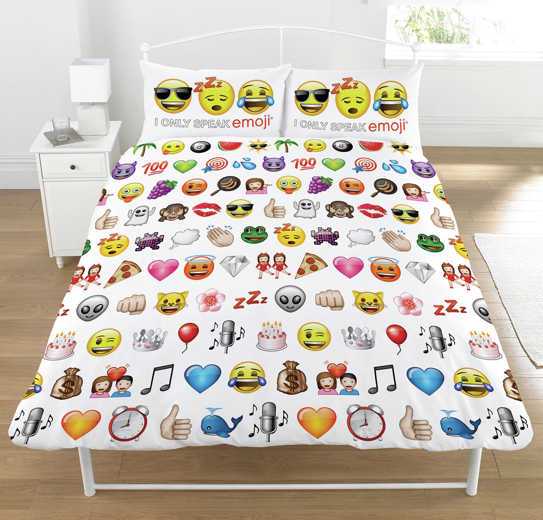 Emoji White Bedding Set - Double.
