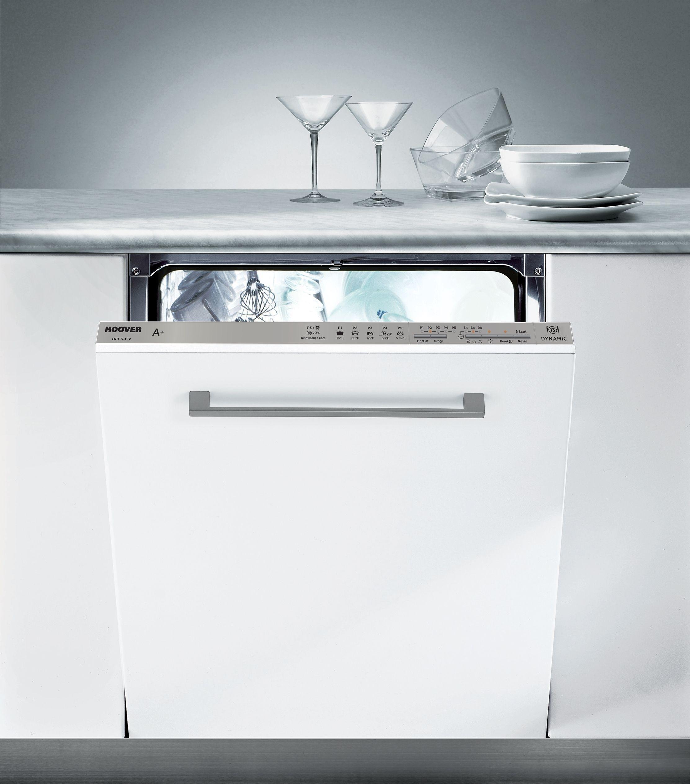Hoover - HFI6072 Integrated Dishwasher - White