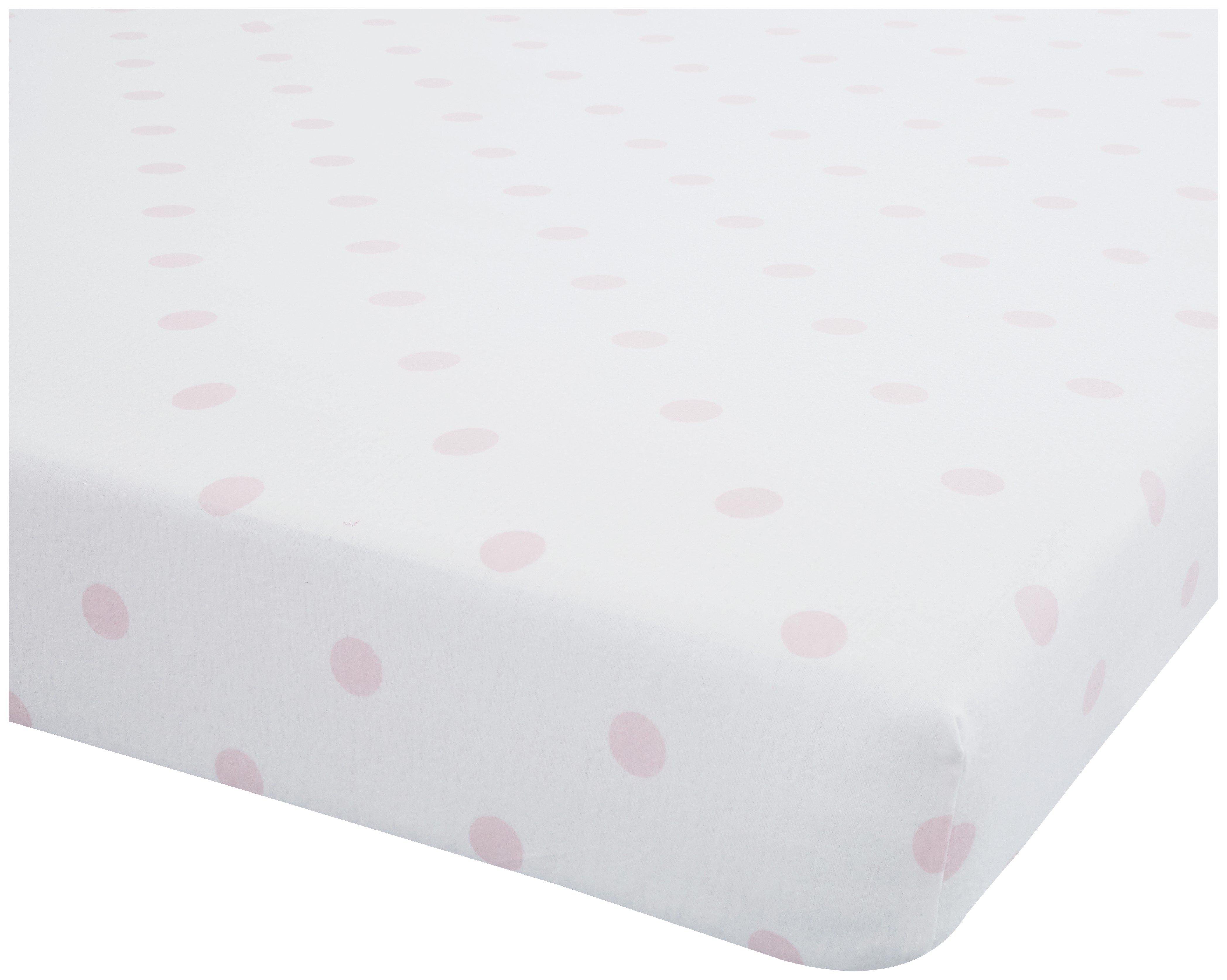 catherine lansfield pink polka dot fitted sheet setsingle.