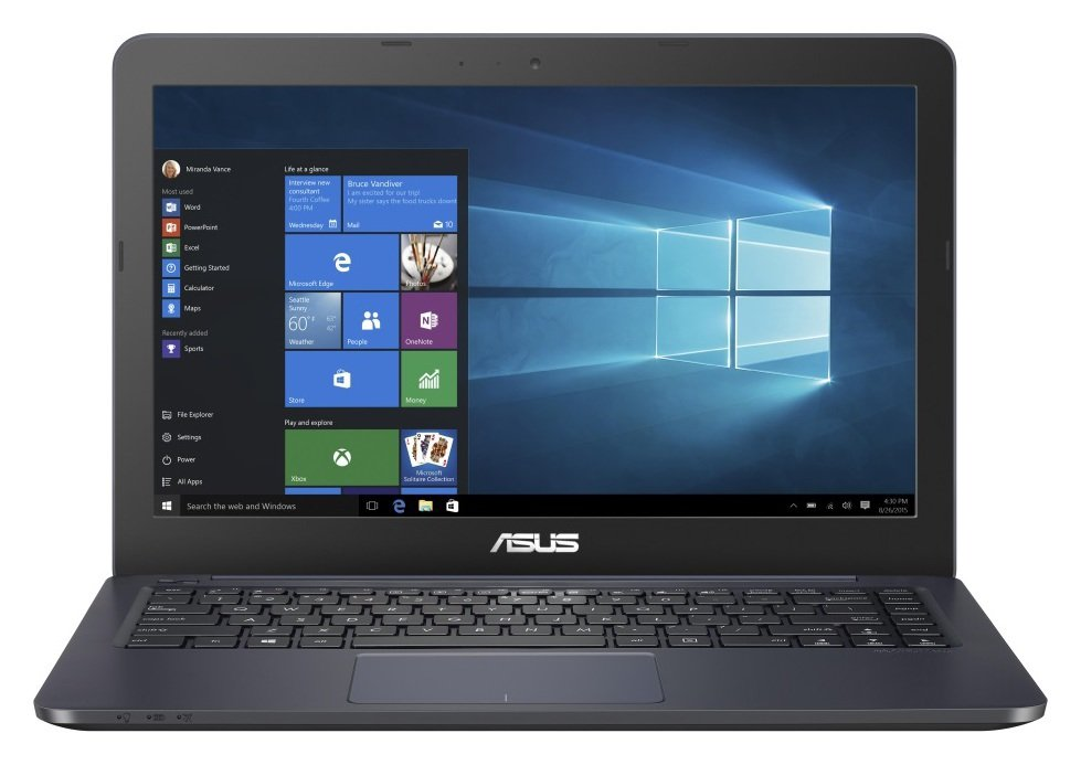 ASUS EeeBook E402 gives you all the notebook essentials with a premium feel. ASUS EeeBook E402 features compact dimensions with streamlined curves. The latest ASUS...