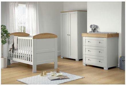Mamas & Papas Harrow 3 Piece Furniture Set - Grey.