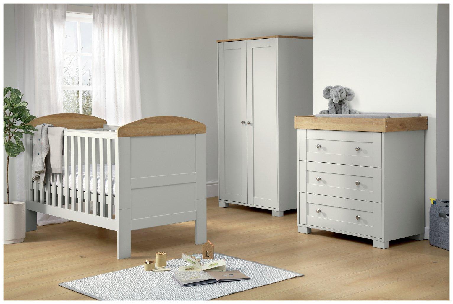 3 Piece Nursery Furniture Sets obaby grace piece nursery furniture set white at argos