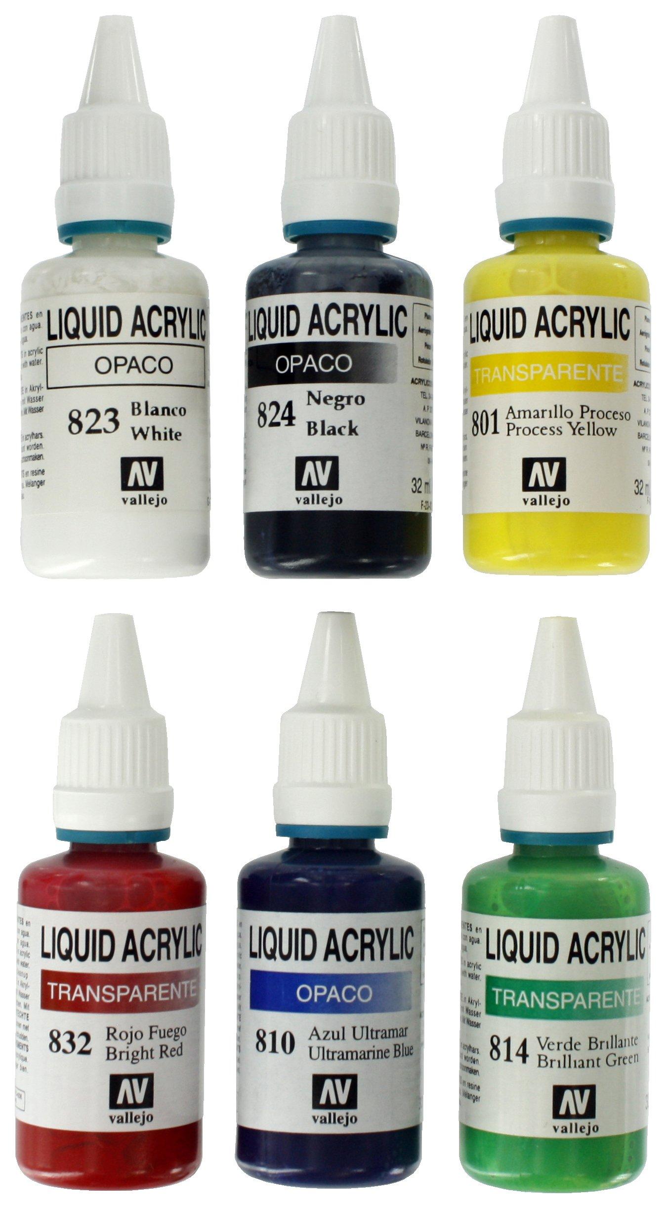 Spraycraft 6 Acrylic 32ml Airbrush Paints