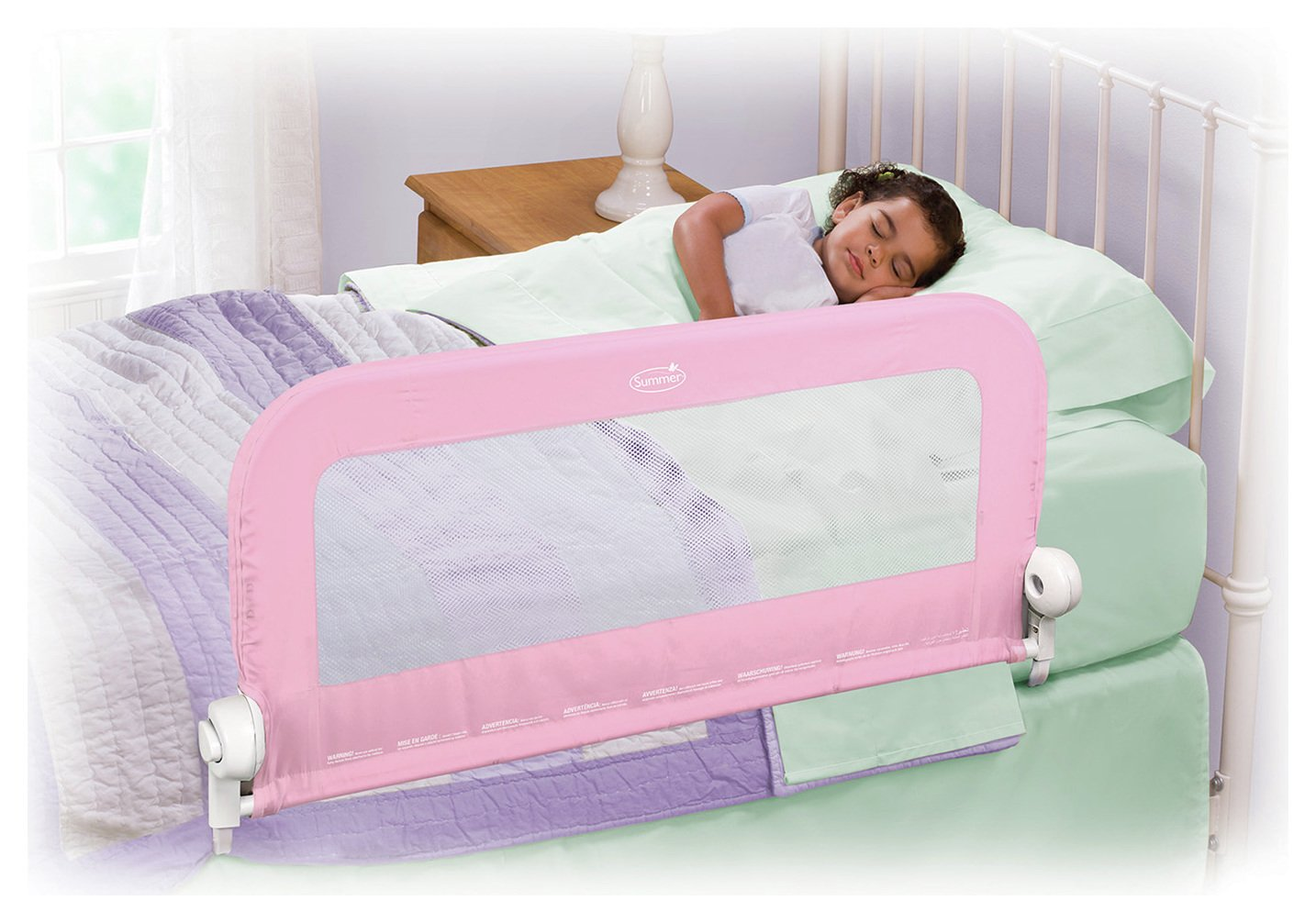 Image of Summer Infant Grow with Me Pink Single Bed Rail