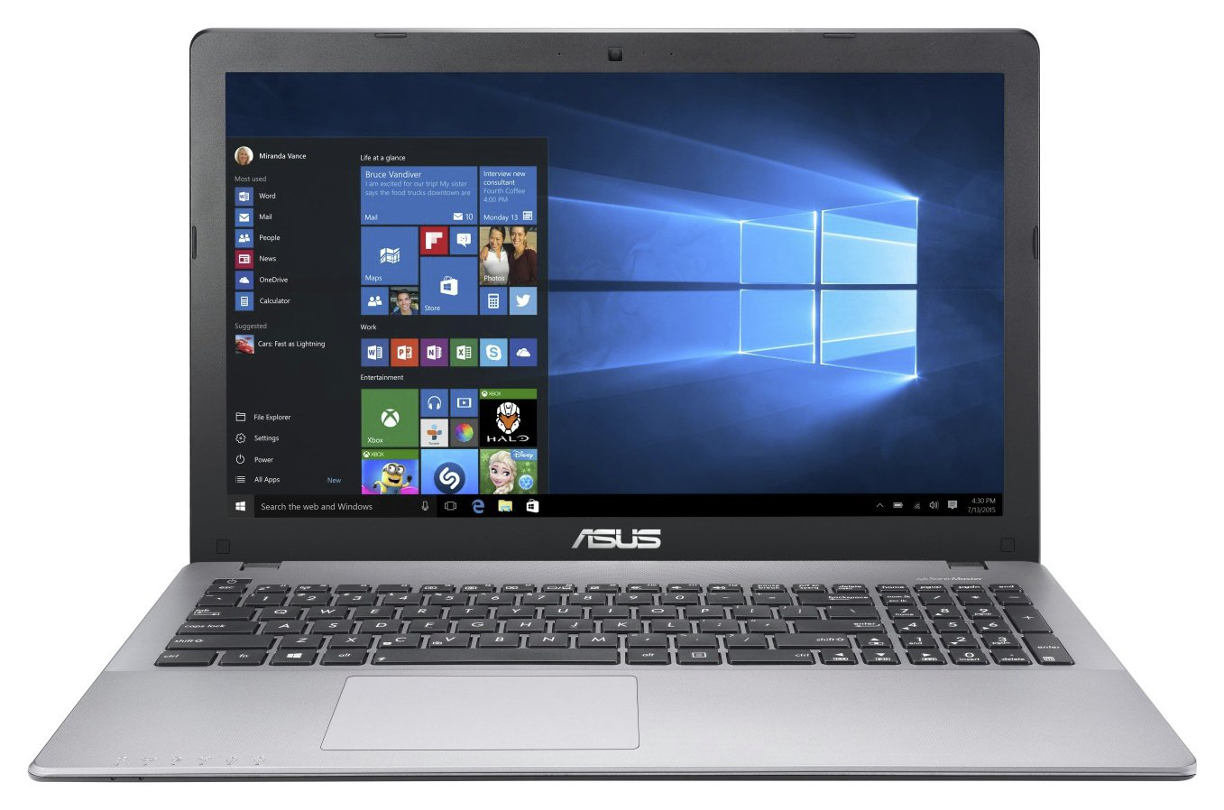 Image of ASUS 15.6 In FX-9830P RX460 8GB 1TB 128GB SSD Gaming Laptop
