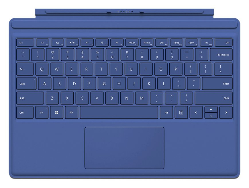 Microsoft Surface Pro 4 Type Cover - Blue.