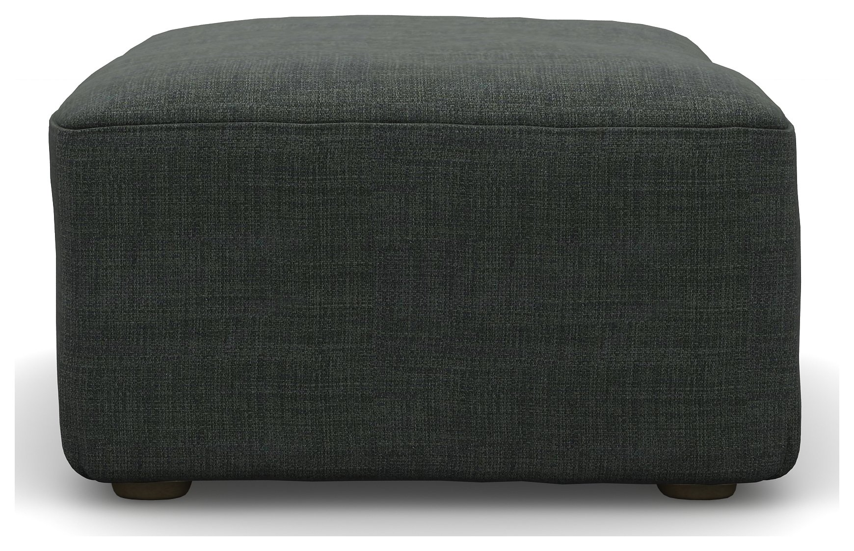 Heart of House Lincoln Fabric Footstool - Dark Charcoal.