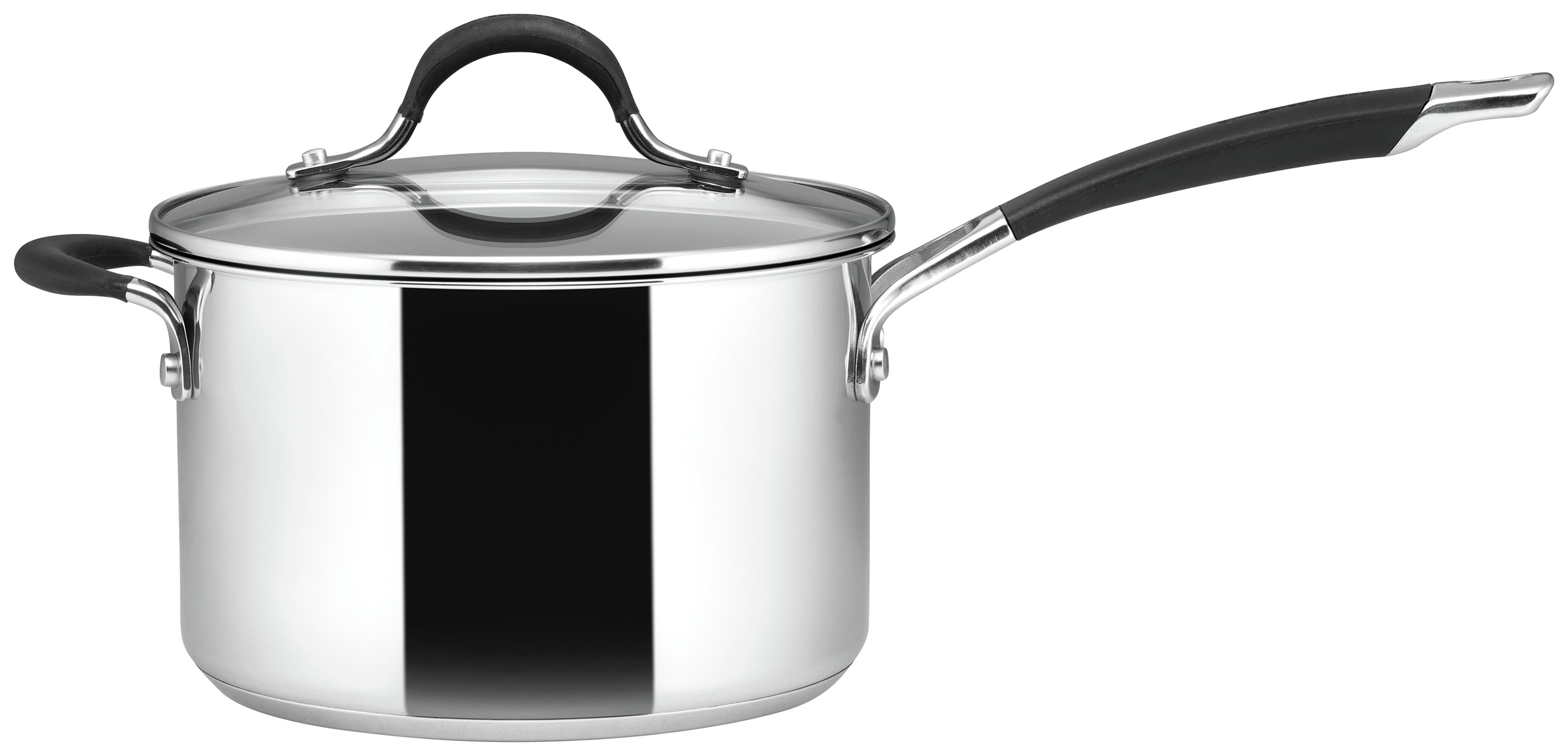 Image of Circulon Momentum 20cm Stainless Steel Covered Saucepan.
