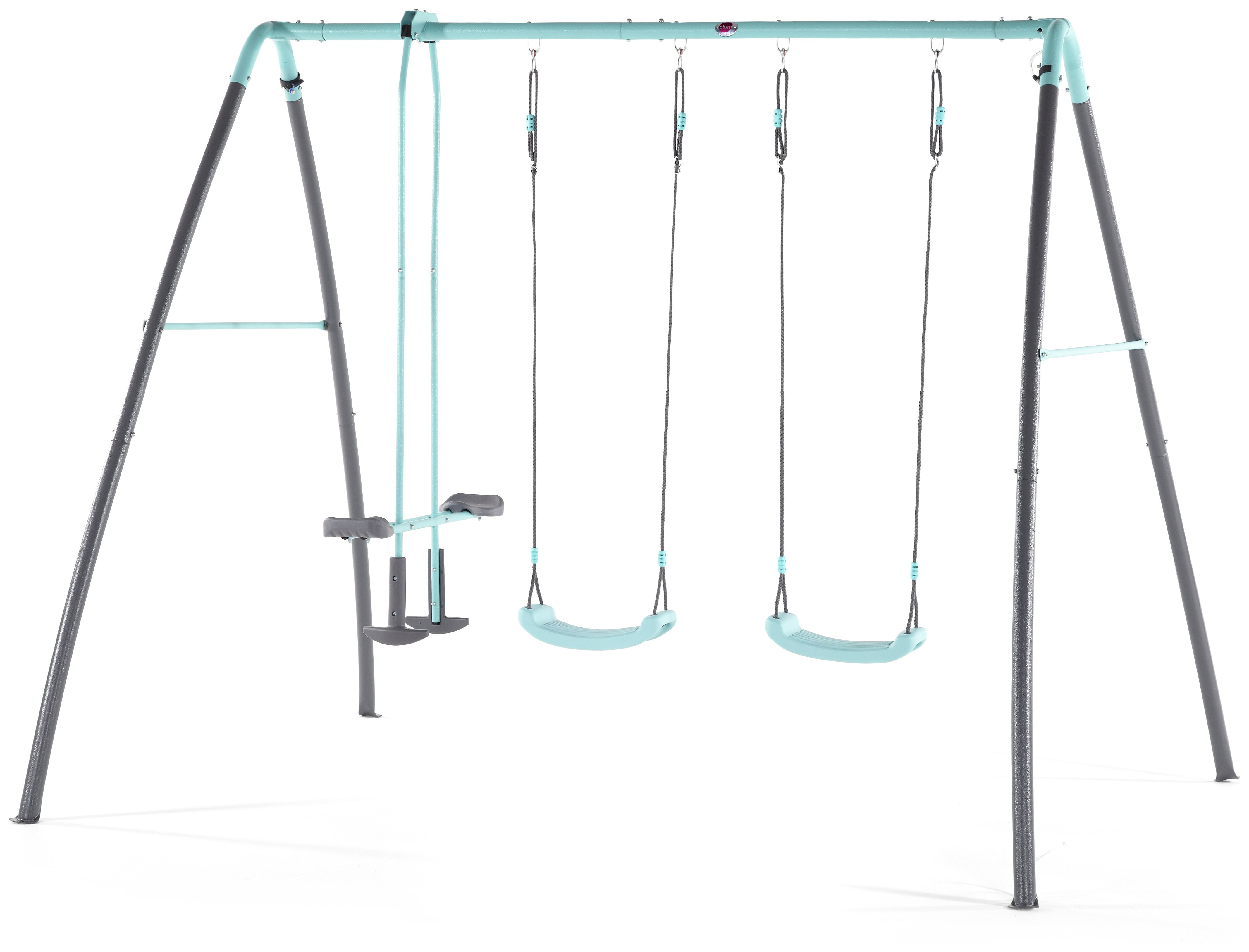 Plum Premium Metal Double Swing And Glider With Mist.
